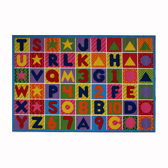 31x47 Numbers Letters Rectangle Accent Rug