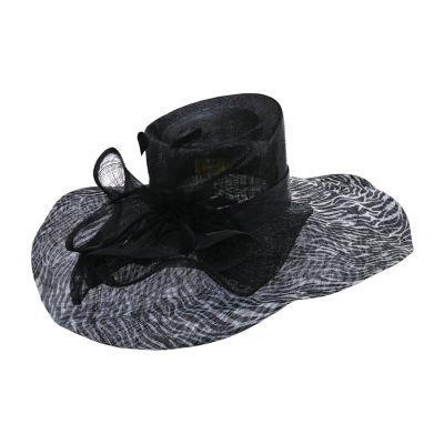 Scala Solid Big Brim Sinamay Derby Hat