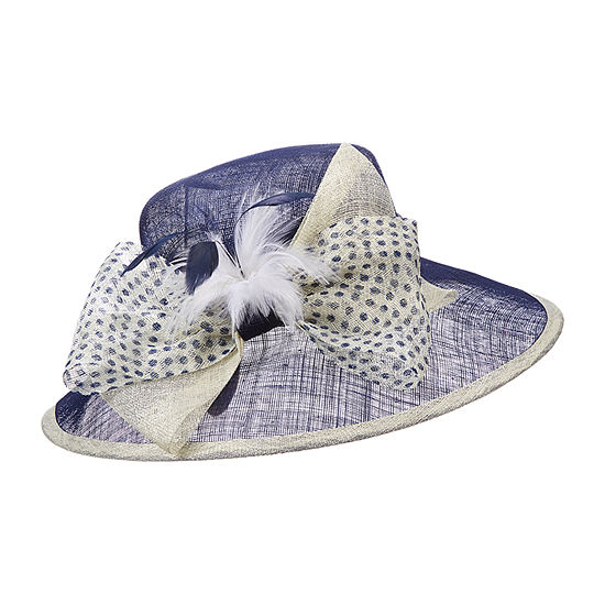 Scala Sinamay With Polka Dot Derby Hat