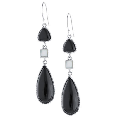 Genuine Black Onyx Drop Earrings