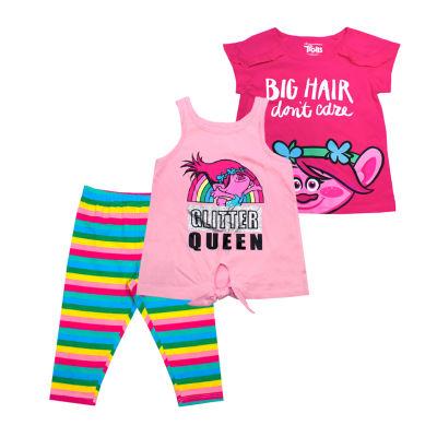 Trolls 3-pc. Legging Set-Toddler Girls