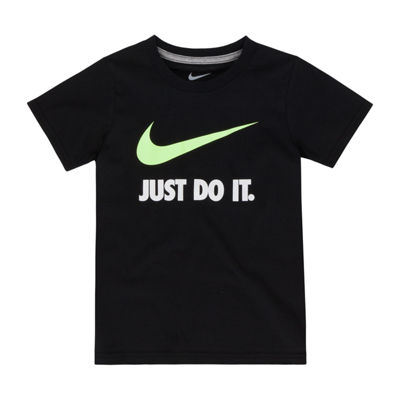 Nike Boys Crew Neck Short Sleeve Graphic T-Shirt-Preschool