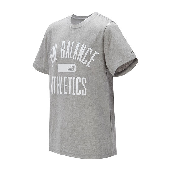 New Balance Boys Round Neck Short Sleeve Graphic T-Shirt
