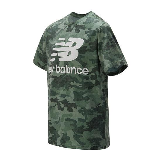 New Balance Boys Round Neck Short Sleeve Graphic T-Shirt - Big Kid