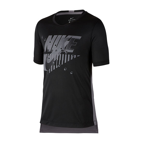 Nike Boys Crew Neck Short Sleeve Dri-Fit Graphic T-Shirt Big Kid