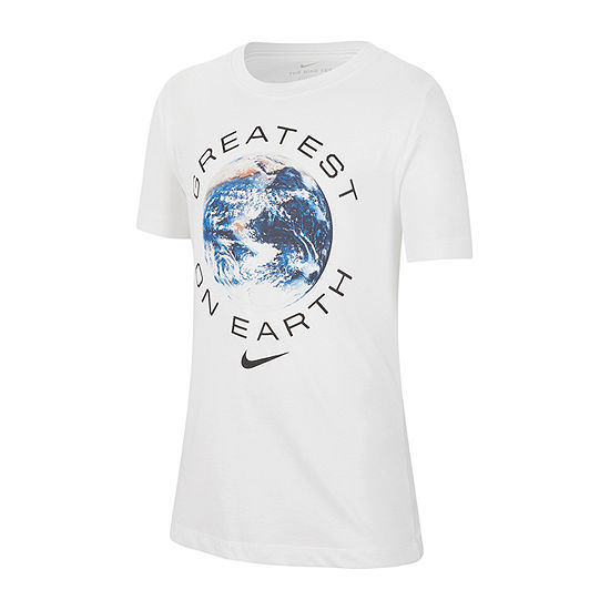 Nike Boys Crew Neck Short Sleeve Dri-Fit Graphic T-Shirt