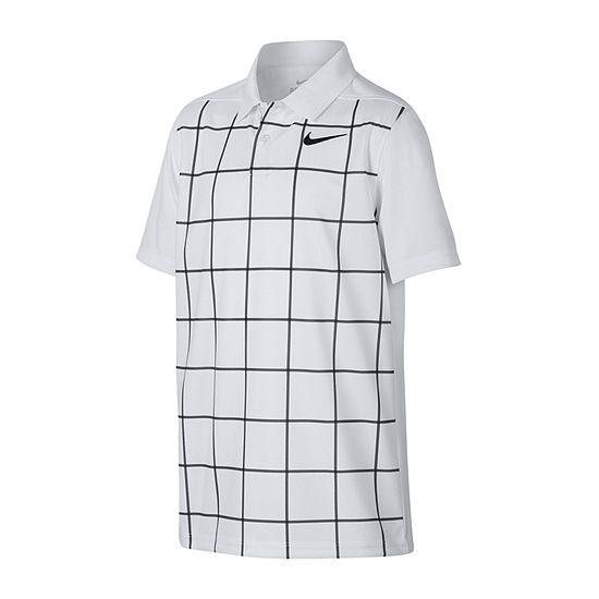 Nike Boys Spread Collar Short Sleeve Polo Shirt - Big Kid