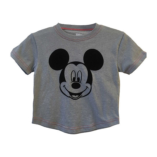 Disney Boys Crew Neck Short Sleeve Mickey Mouse Graphic T-Shirt-Toddler