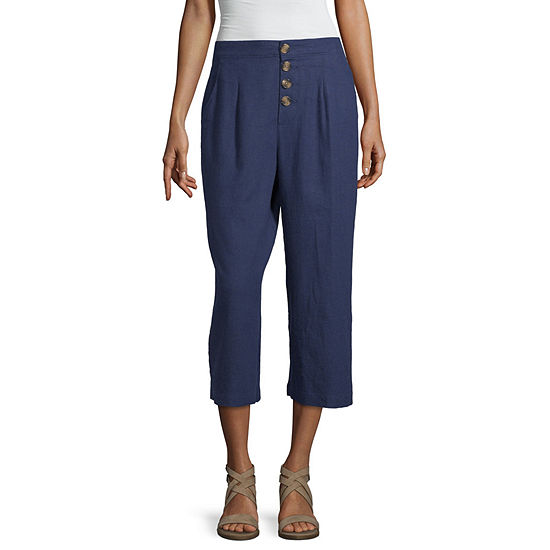 a.n.a Cropped Linen Pant - Tall