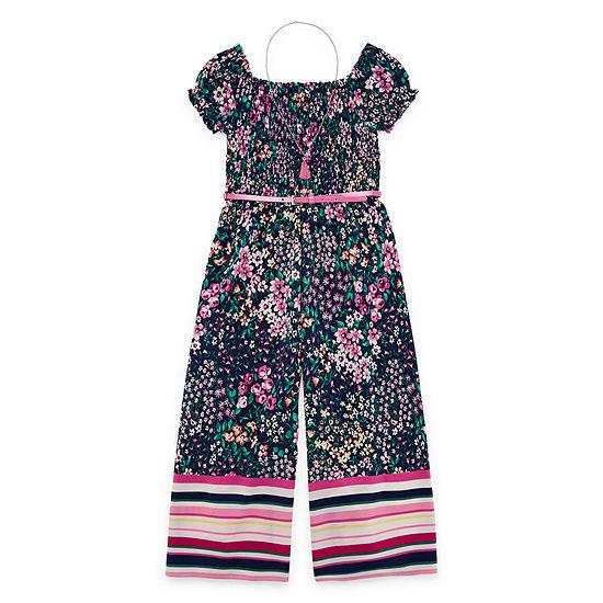 Knit Works Girls Belted Jumpsuit Preschool / Big Kid
