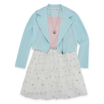 Knit Works 2-pc. Jacket Dress Girls Plus