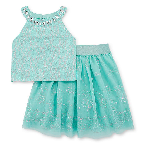 Love Jayne Girls Embellished Sleeveless Dress Set - Big Kid