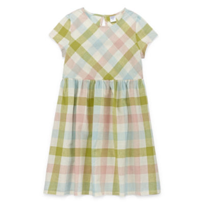 Peyton & Parker Little & Big Girls Short Sleeve A-Line Dress