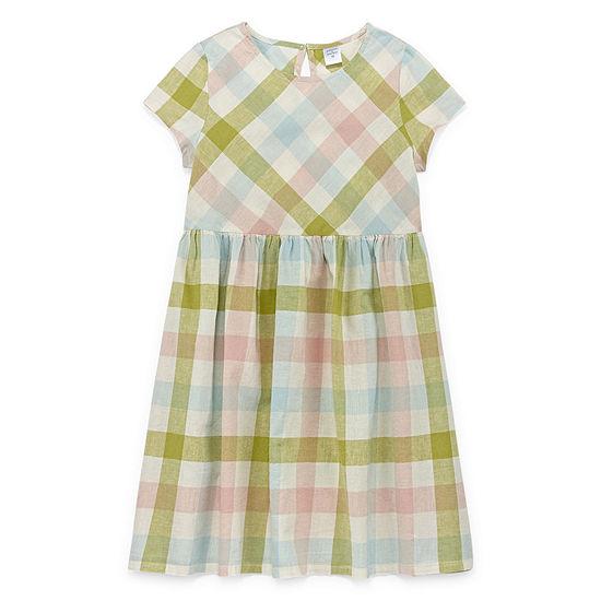 Peyton & Parker Girls Short Sleeve A-Line Dress - Preschool / Big Kid