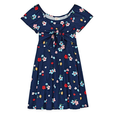 Arizona Short Flutter Sleeve Skater Dress Girls