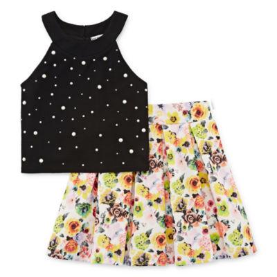 Knit Works Embellished Sleeveless Top & Skirt Set - Big Kid Girls