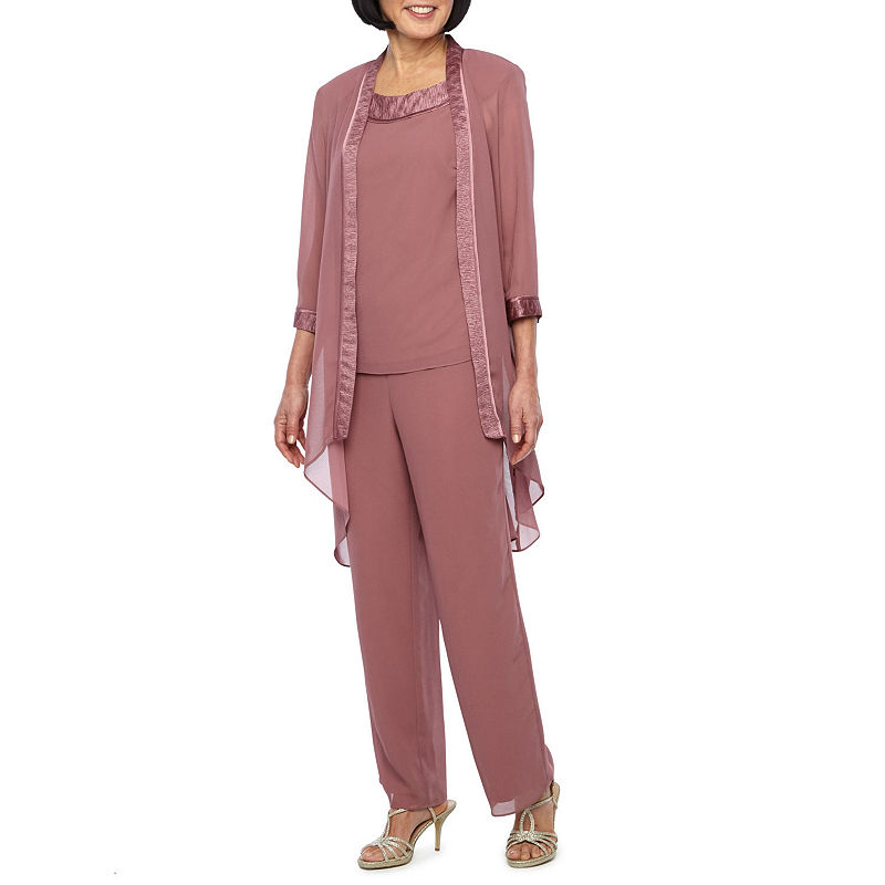 Vintage High Waisted Trousers, Sailor Pants, Jeans Maya Brooke 3-pc. Pant Set Womens Size 10 Pink $20.98 AT vintagedancer.com