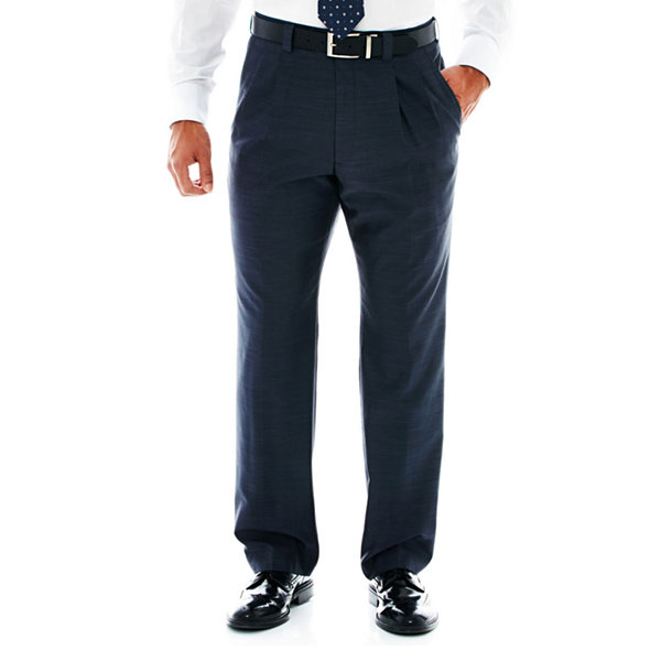 Steve Harvey® Pleated Sharkskin Dress Pants