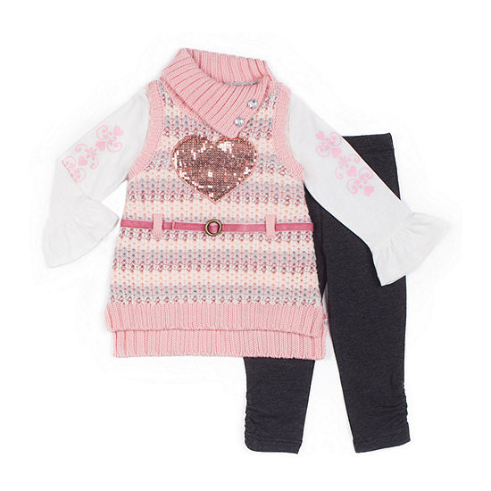 Little Lass-Toddler Girls 3-pc. Legging Set