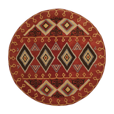 Safavieh Heritage Collection Ruth Geometric Round Area Rug