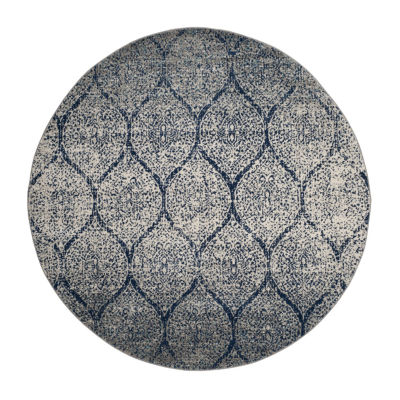 Safavieh Madison Collection Carmen Geometric Round Area Rug
