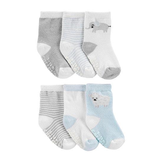 Carter's Baby Boys 6 Pair Crew Socks