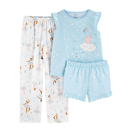 Carter's Girls 3-pc. Pajama Set Preschool / Big Kid
