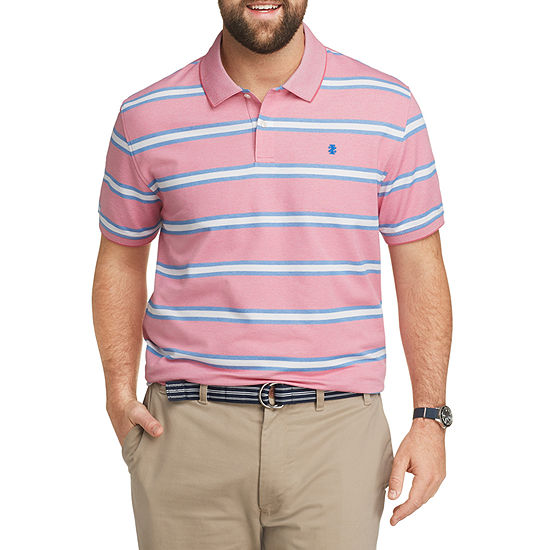IZOD Big and Tall Mens Short Sleeve Cooling Button-Front Shirt