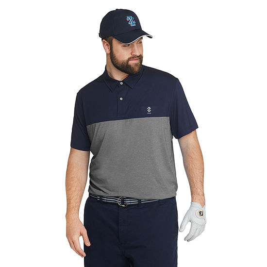 IZOD Big and Tall Izod Golf Qualifier Polo Mens Cooling Short Sleeve Polo Shirt