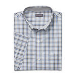 Van Heusen Mens Flex Non Iron Short Sleeve Gingham Button-Front Shirt - Big and Tall