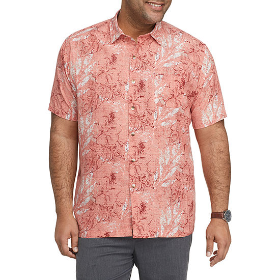 Van Heusen Big and Tall Mens Short Sleeve Button-Down Shirt