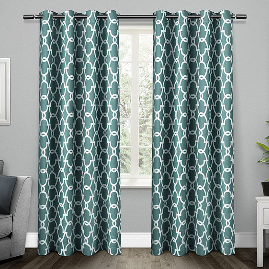 Exclusive Home Curtains Gates Energy Saving Blackout Grommet-Top Set of 2 Curtain Panel