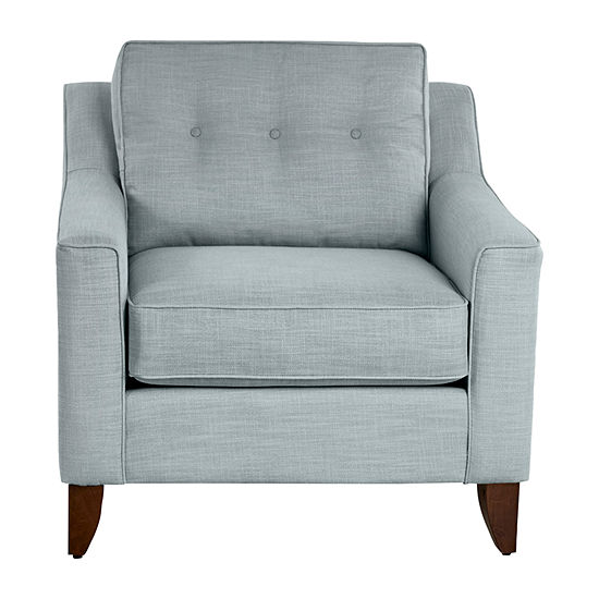 Klaussner Furniture Abby Collection Curved Slope-Arm Chair