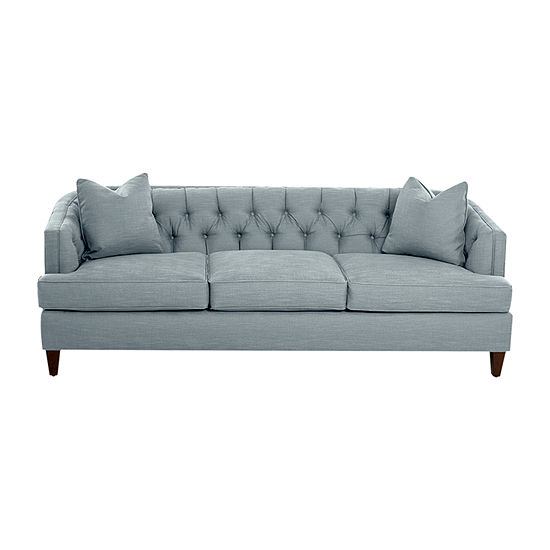 Klaussner Furniture Kenzie Collection Curved Slope-Arm Sofa