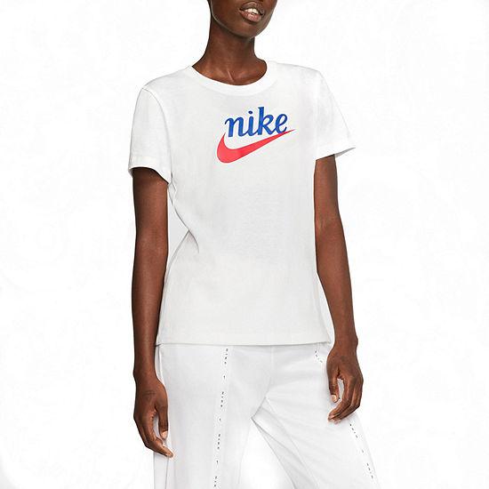 Nike Womens Crew Neck Short Sleeve Graphic T-Shirt