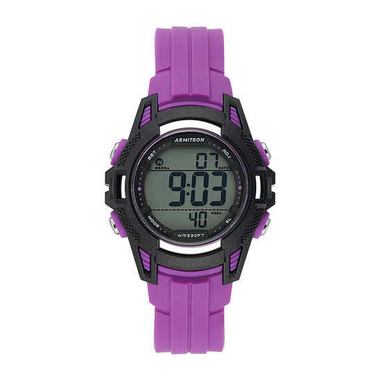 Armitron Pro Sport Womens Chronograph Purple Strap Watch-45/7113pur