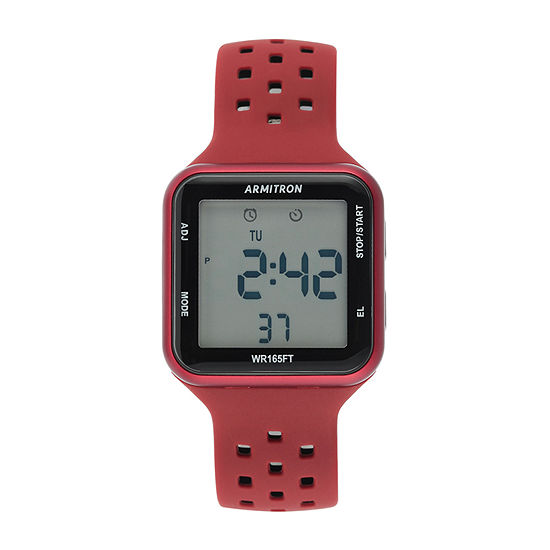 Armitron Pro Sport Mens Chronograph Red Strap Watch-40/8417drd