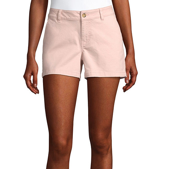 "a.n.a-Tall Womens Mid Rise 4.5"" Chino Short"