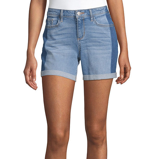 "a.n.a-Tall Womens Mid Rise 6"" Denim Short"