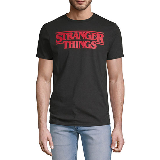 Stranger Things Mens Crew Neck Short Sleeve Graphic T-Shirt