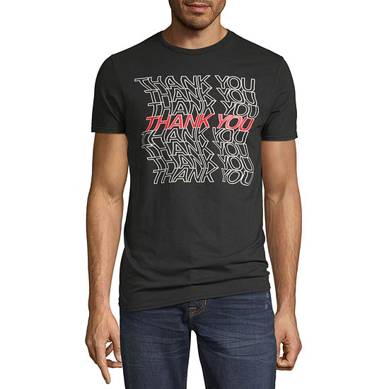 Thank You Mens Crew Neck Short Sleeve Humor Graphic T-Shirt