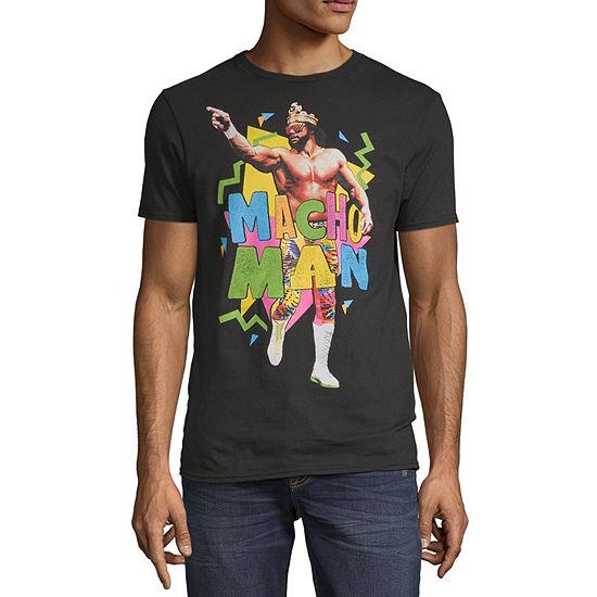 Macho Man Mens Crew Neck Short Sleeve WWE Graphic T-Shirt