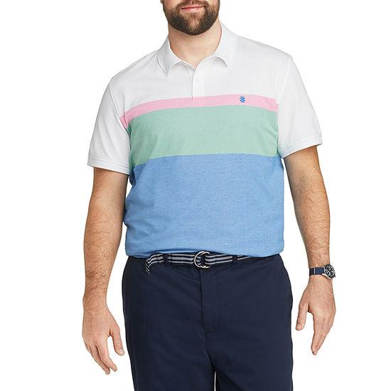 IZOD Mens Cooling Short Sleeve Polo Shirt Big and Tall