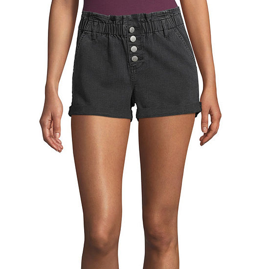 Blue Spice Womens High Rise Juniors Pull-On Short