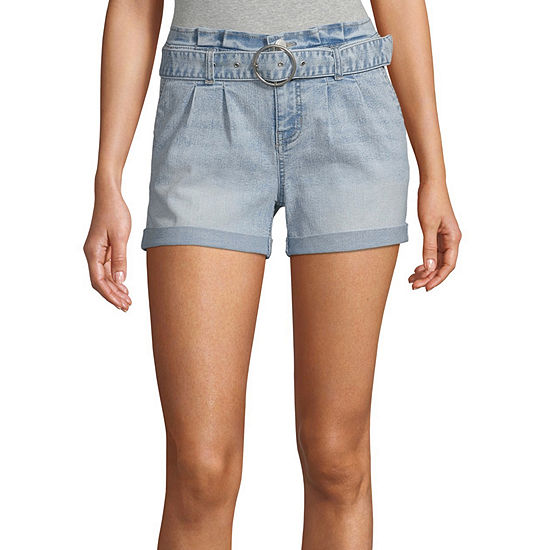 Blue Spice Womens High Rise Pull-On Short-Juniors