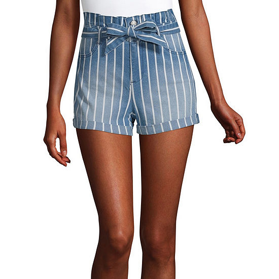 Blue Spice Womens Juniors High Rise Pull-On Short