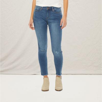 a.n.a Womens Ripped Skinny Jean