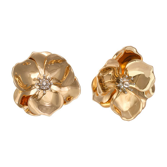Bijoux Bar 1 Inch Flower Stud Earrings