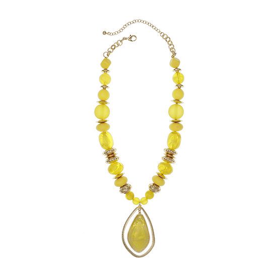 EL by Erica Lyons Yellow 20 Inch Rolo Pendant