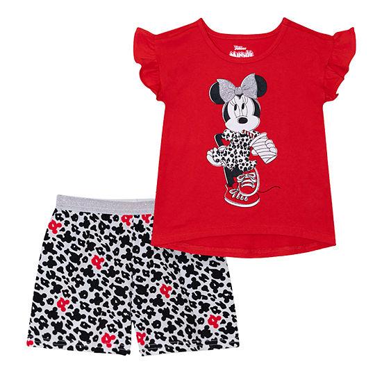 Disney Girls 2-pc. Minnie Mouse Short Set Toddler
